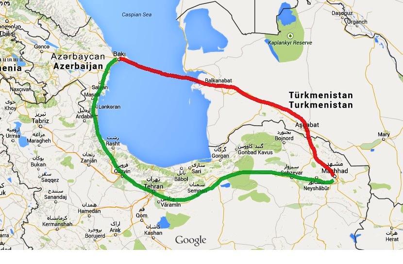 Trasa Azerbejdżan-Turkmenistan-Iran
