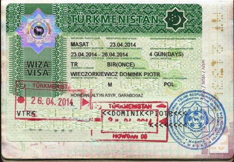 wiza do Turkmenistanu